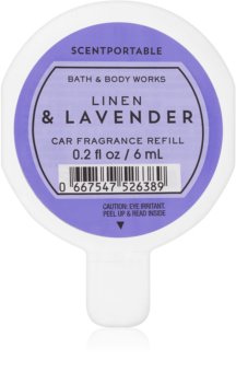Bath & Body Works Linen & Lavender parfum pentru masina Refil