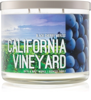 Bath & Body Works Black Cherry Merlot duftkerze  I. California Vineyard
