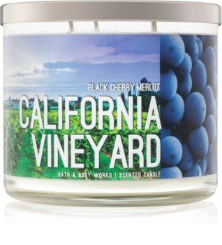 Bath & Body Works Black Cherry Merlot scented candle I. California Vineyard