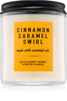 Bath & Body Works Cinnamon Caramel Swirl bougie parfumée I.
