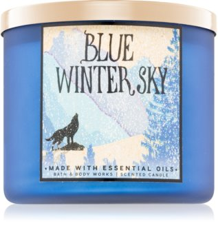 Bath & Body Works Blue Winter Sky vonná sviečka