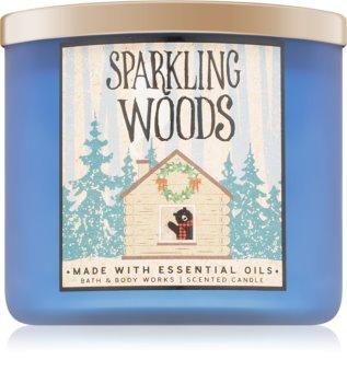 Bath & Body Works Sparkling Woods dišeča sveča