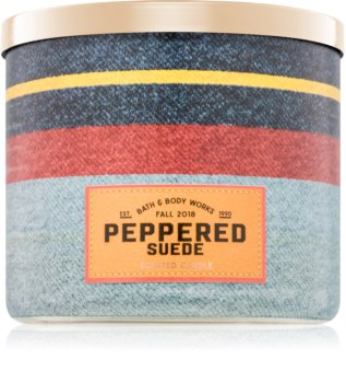 Bath & Body Works Peppered Suede scented candle I.