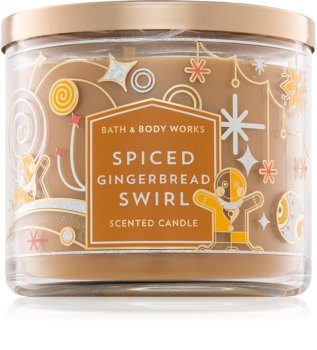 Bath & Body Works Spiced Gingerbread Swirl vela perfumada
