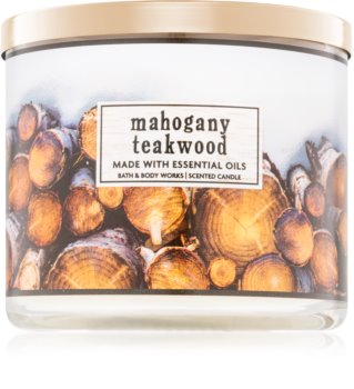 Bath & Body Works Mahogany Teakwood vonná sviečka I.