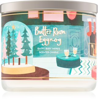 Bath & Body Works Butter Rum Eggnog illatos gyertya