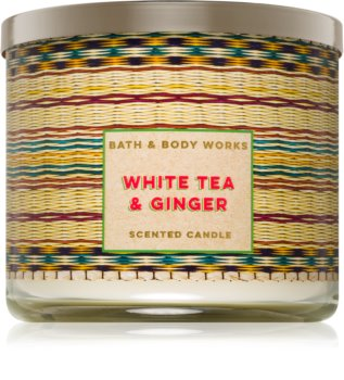 Bath & Body Works White Tea & Ginger vonná sviečka