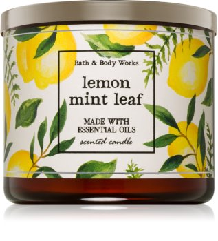 Bath & Body Works Lemon Mint Leaf illatos gyertya  I.