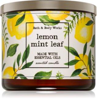Bath & Body Works Lemon Mint Leaf vonná sviečka I.