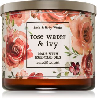 Bath & Body Works Rose Water & Ivy vonná sviečka