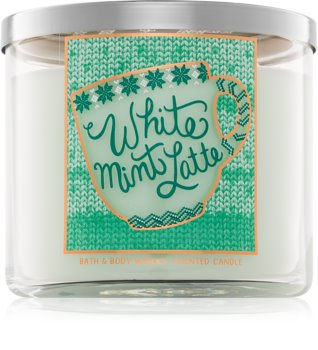 Bath & Body Works White Mint Latte lumânare parfumată  I.