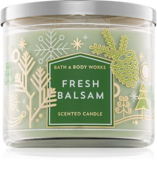 Bath & Body Works Fresh Balsam vonná svíčka III.