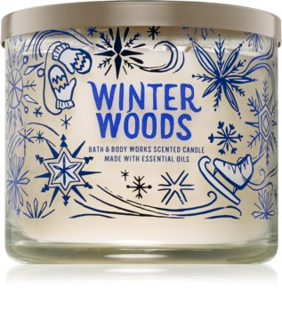 Bath & Body Works Winter White Woods illatos gyertya