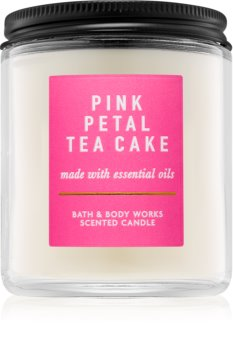 Bath & Body Works Pink Petal Tea Cake dišeča sveča