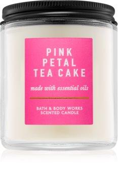 Bath & Body Works Pink Petal Tea Cake vonná sviečka