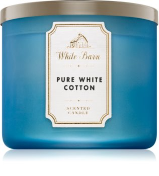 Bath & Body Works Pure White Cotton illatos gyertya