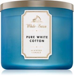 Bath & Body Works Pure White Cotton vonná sviečka