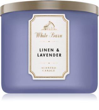 Bath & Body Works Linen & Lavender lumânare parfumată
