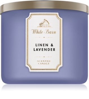 Bath & Body Works Linen & Lavender vonná sviečka