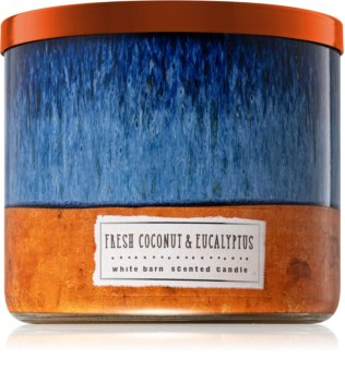 Bath & Body Works Fresh Coconut & Eucalyptus illatos gyertya
