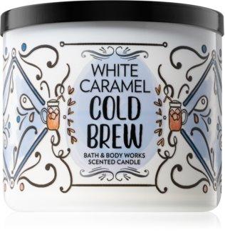 Bath & Body Works White Caramel Cold Brew bougie parfumée
