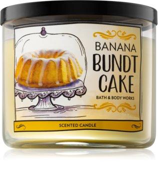 Bath & Body Works Banana Bundt Cake illatos gyertya