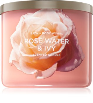Bath & Body Works Rose Water & Ivy duftkerze  II.