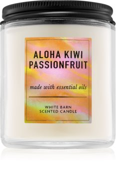 Bath & Body Works Aloha Kiwi Passionfruit scented candle I.