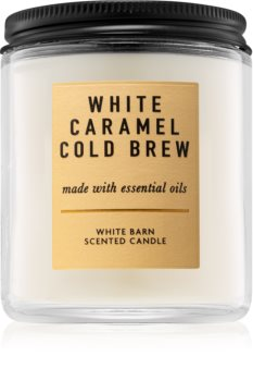 Bath & Body Works White Caramel Cold Brew bougie parfumée I.