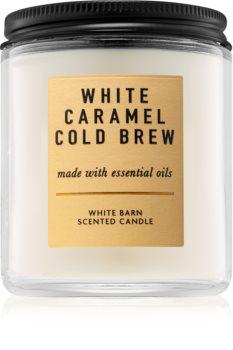 Bath & Body Works White Caramel Cold Brew vonná sviečka I.