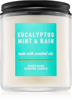 Bath & Body Works Eucalyptus Mint & Rain vonná sviečka