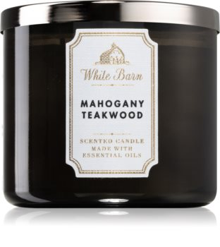 Bath & Body Works White Barn Mahogany Teakwood duftlys