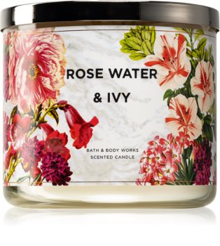 Bath & Body Works Rose Water & Ivy vonná sviečka IV.