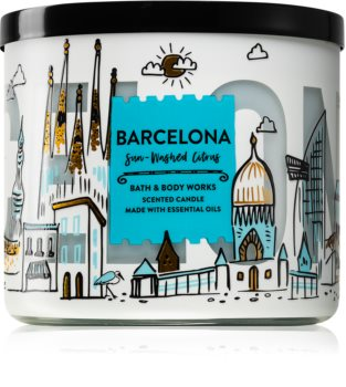 Bath & Body Works Sun-Washed Citrus vonná svíčka II. (Barcelona)