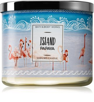 Bath & Body Works Island Papaya scented candle