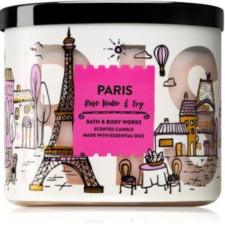 Bath & Body Works Rose Water & Ivy bougie parfumée III. (Paris)
