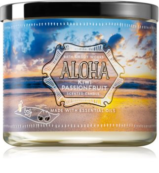 Bath & Body Works Aloha Kiwi Passionfruit scented candle With Essential Oils