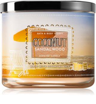 Bath & Body Works Coconut Sandalwood illatos gyertya