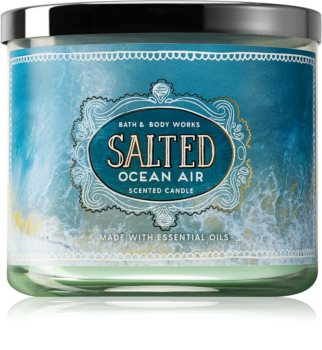 Bath & Body Works Salted Ocean Air vela perfumada