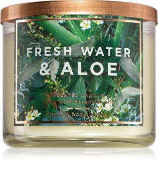 Bath & Body Works Fresh Water & Aloe vonná sviečka