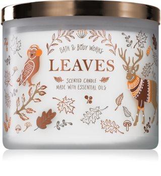 Bath & Body Works Leaves duftkerze  mit ätherischen Öl
