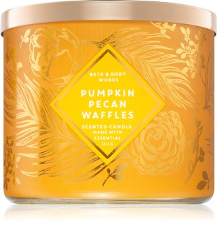 Bath & Body Works Pumpkin Pecan Waffles illatos gyertya  III.