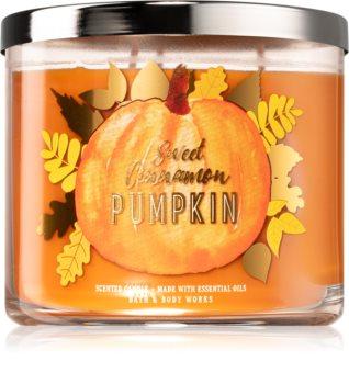 Bath & Body Works Sweet Cinnamon Pumpkin vonná sviečka III.