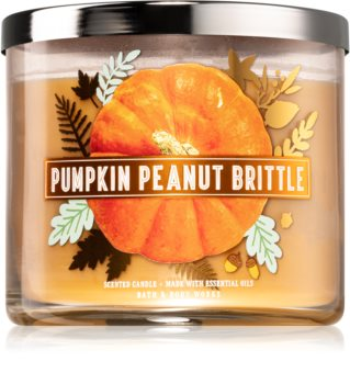 Bath & Body Works Pumpkin Peanut Brittle lumânare parfumată