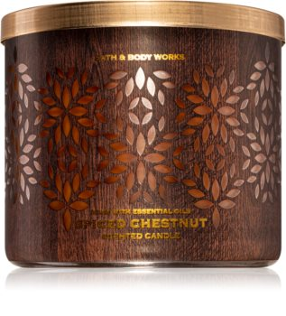 Bath & Body Works Spiced Chestnut illatos gyertya