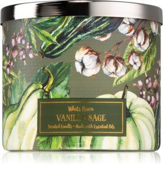Bath & Body Works Vanilla Sage illatos gyertya