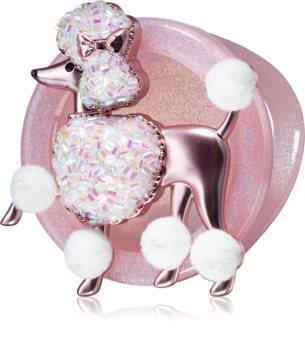 Bath & Body Works Pink Poodle držák na vůni do auta závěsný