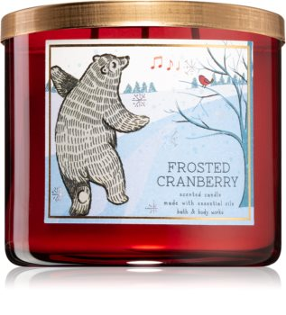 Bath & Body Works Frosted Cranberry bougie parfumée III.