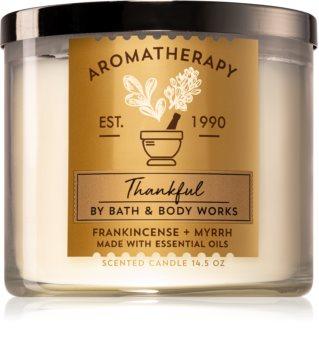 Bath & Body Works Frankincense + Myrrh duftkerze  (Thankful)