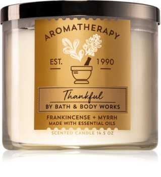 Bath & Body Works Frankincense + Myrrh vonná sviečka (Thankful)